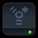 dark, firewire, save, disk, disc icon