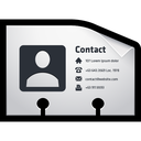 card, contact, vcf, name icon