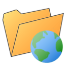 earth, folder icon