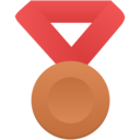 bronze metal red icon