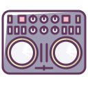 dj, volume, device, music, sound, technology, disco icon