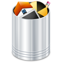 recycle bin, trash can icon