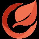 media, online, social, network, circle, leaf, logo icon
