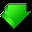 descending, alternate, descend, download, down, fall, decrease icon
