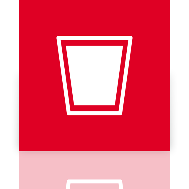recycle, mirror, full, alt, bin icon