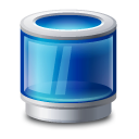 Recycle bin blue icon