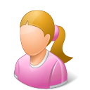 Age Child Female Light icon