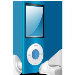 nano, blue, ipod icon