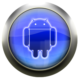 blue, android icon