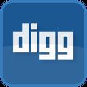 square, social media, digg, blue icon