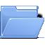 folder,blue,open icon