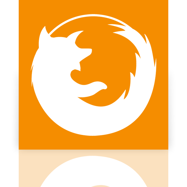 firefox, mirror icon