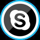 corporate, social, logo, skype, media icon