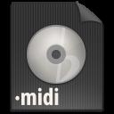 paper, file, midi, document icon