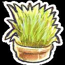 Flowerpot, g, Grass icon