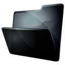 grey, black, folder icon