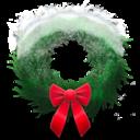 holiday,wreath,snowy icon