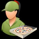 Female, Light, Pizzadeliveryman icon