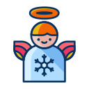 angel, wings, christmas, winter, decorate, decoration icon