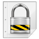 secure, lock, safe, file icon