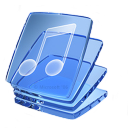 music, glass icon