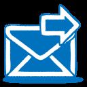 blue mail send icon