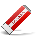 Actions draw eraser icon