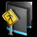 public,folder,black icon