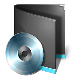 black, folder, music icon