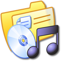 folder, yellow, music icon