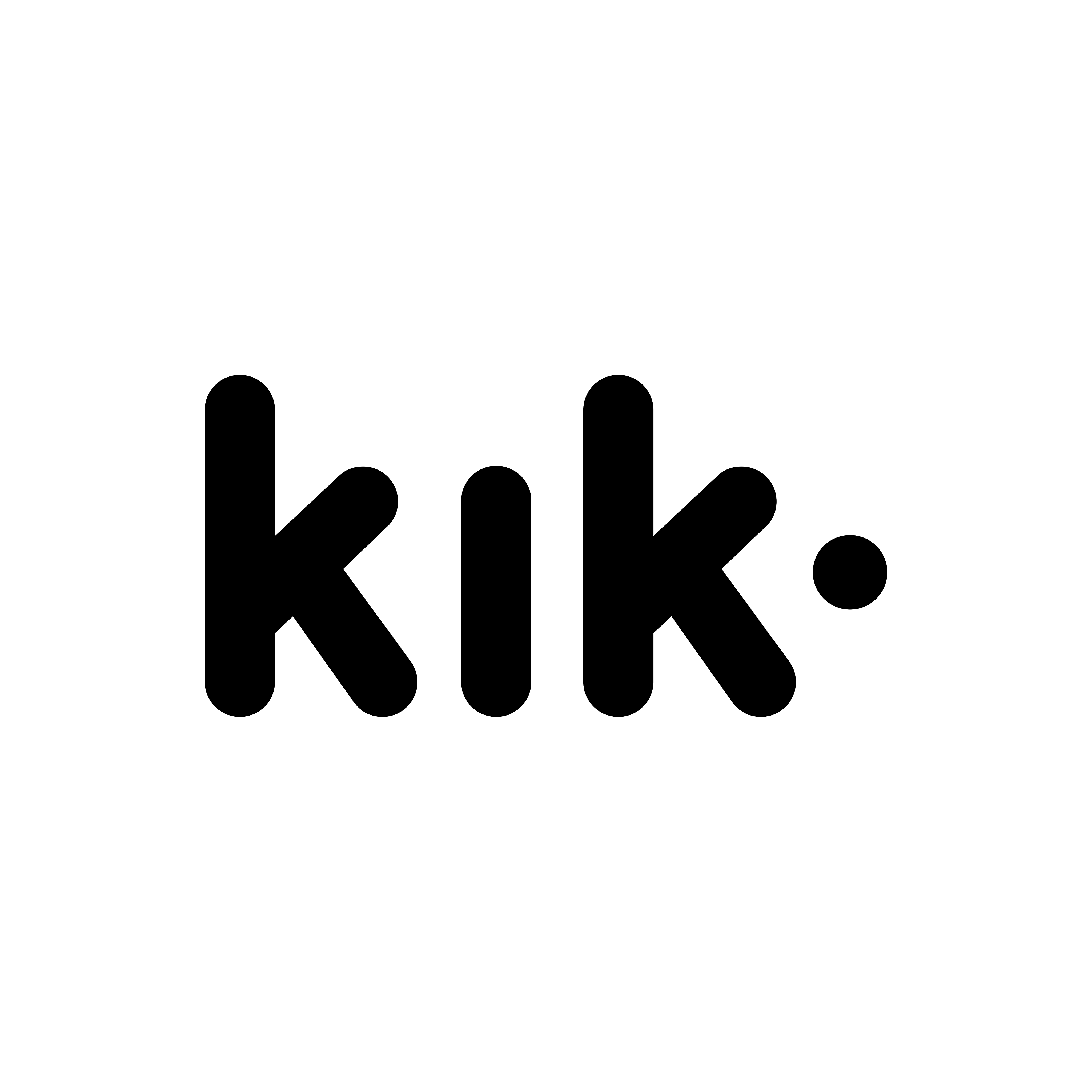 black, kik icon