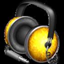 golden,garnish,headphone icon