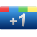 one, google+, rectangle, google, blue, +1, plus icon