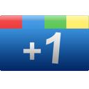 one, google+, rectangle, google, blue, +1, plus icon