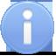 info,blue,round icon