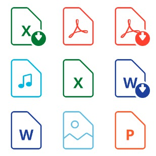 Filetypes icon sets preview