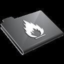 Flame, Grey icon