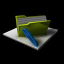 edit, full, folder, write, writing icon