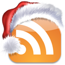 subscribe, social, bookmark, christmas, rss, media, xmas, feed icon