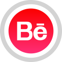 behance, social, media, logo icon