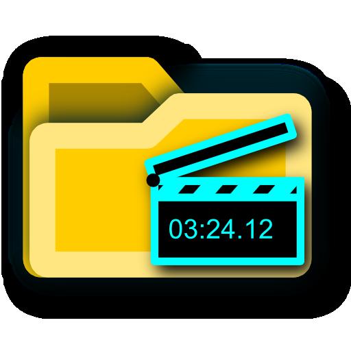 film, video, movie, folder icon