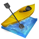 kayak, slalom icon