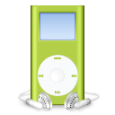 ipod, mini, mp3 player, green icon