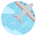 travel, place, soar, fly icon