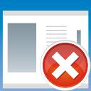 application remove icon