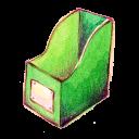 empty, recycle, blank, bin icon