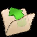 folder beige parent icon