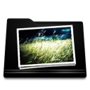 black, photo, folder, image, picture, pic icon