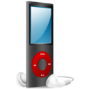 iPod Nano black and red on icon