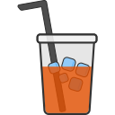 cup, cold, coffee, glass, package, drink, food icon